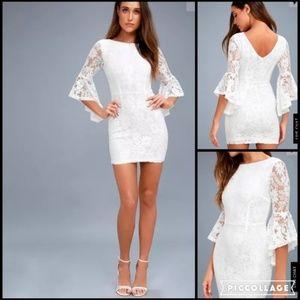 """Lulu's Allure """"Em In White Lace Dress"""